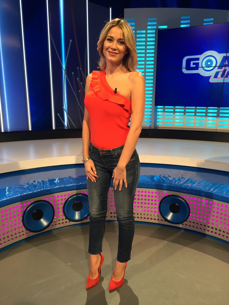 Diletta Leotta wears a Tara Jarmon top