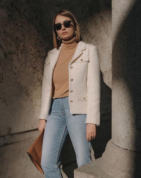 Roberta Fusco con giacca Tara Jarmon