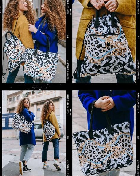 Le Twins con le loro borse Save My Bag