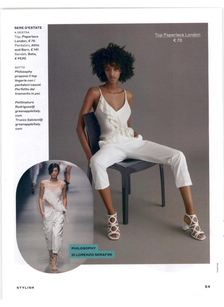 Top bianco Paperlace su Donna Moderna