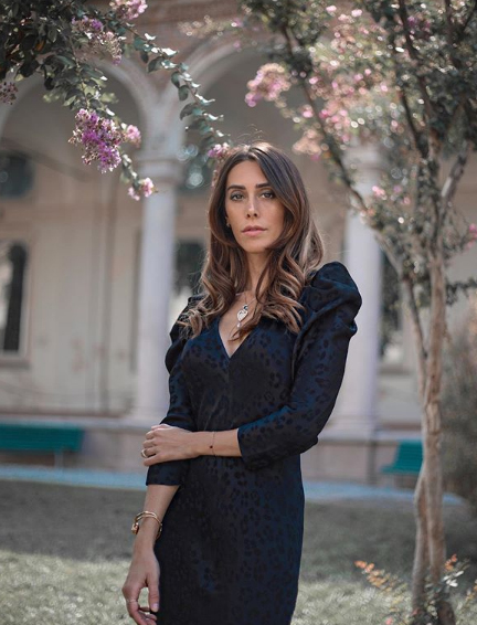 Valeria Conte in abito Tara Jarmon