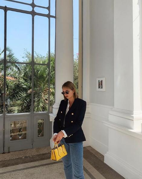 Roberta Fusco indossa giacca Tara Jarmon