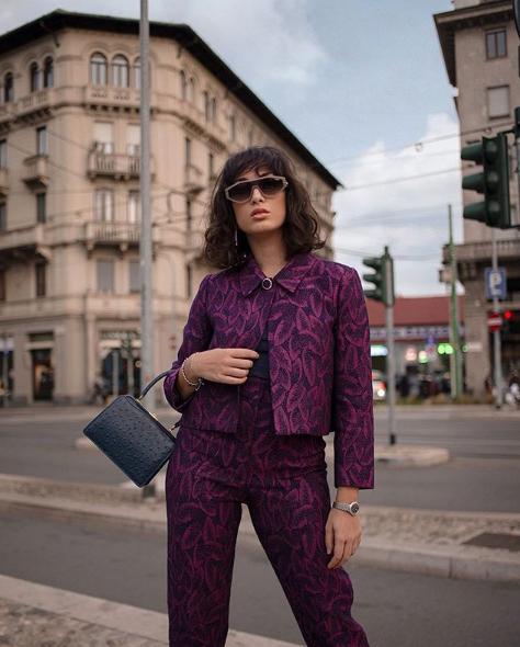 My Glamour Attitude indossa completo Tara Jarmon e borsa Amato Daniele