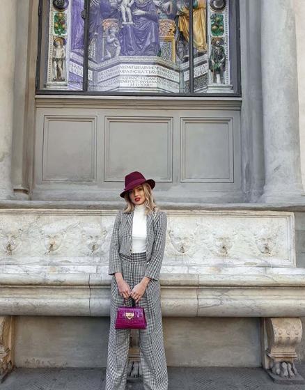 Augusta Iezzi indossa total look Mangano