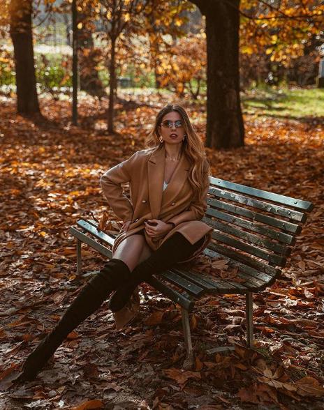 Erica Aquilino indossa cappotto Tara Jarmon