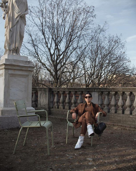 Rita Capparelli indossa scarpe NR Rapisardi